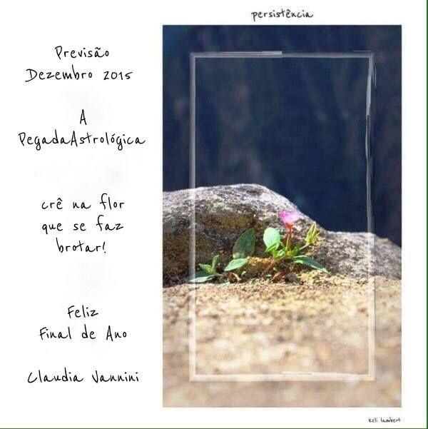 Pegada Astrológica Por Claudia Vannini – DEZEMBRO/2015