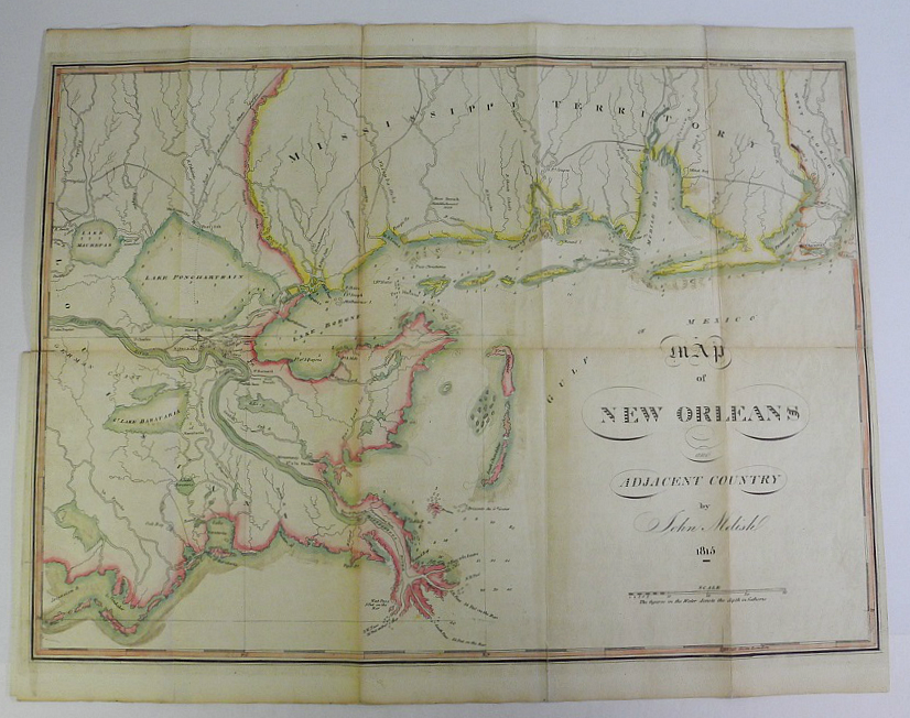 Antique maps Map of New Orleans and
