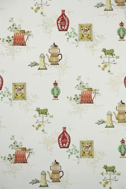 Superior Looky Looky! A Green Cow Weather Vain On This Kitchen Wallpaper, How Funny.