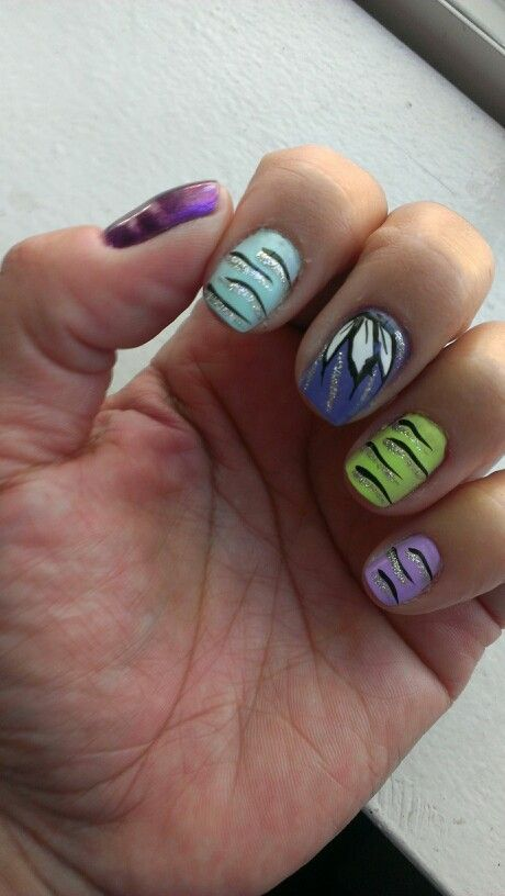 Lotus flower nail art on my #chinaglaze spring 2014 line.   Mary\'s ...