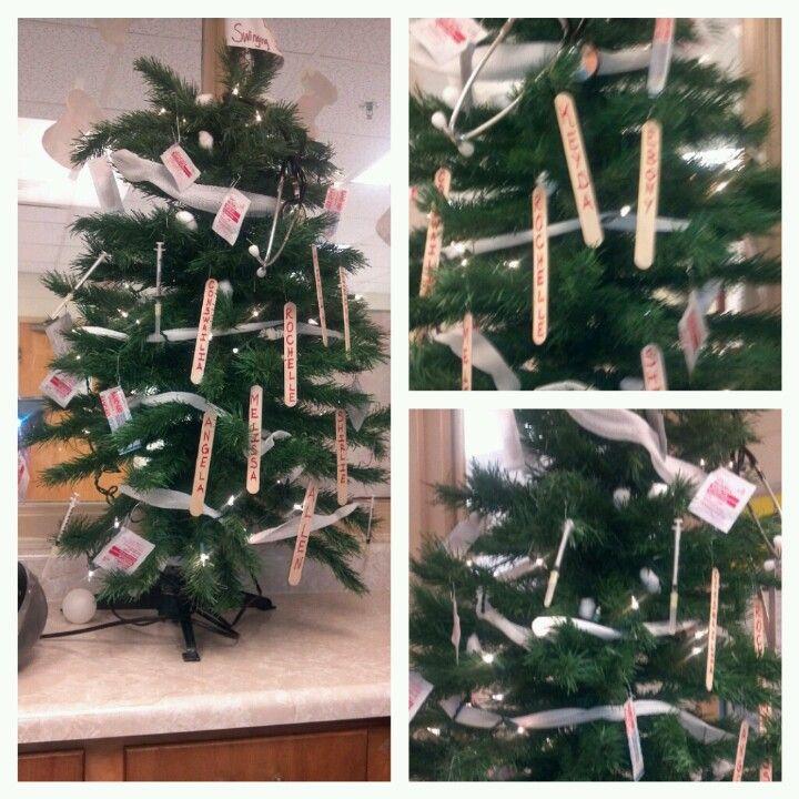 Pin By Charlean Starr On Random Stuff Office Christmas Decorations Nurse Christmas Christmas Decorations