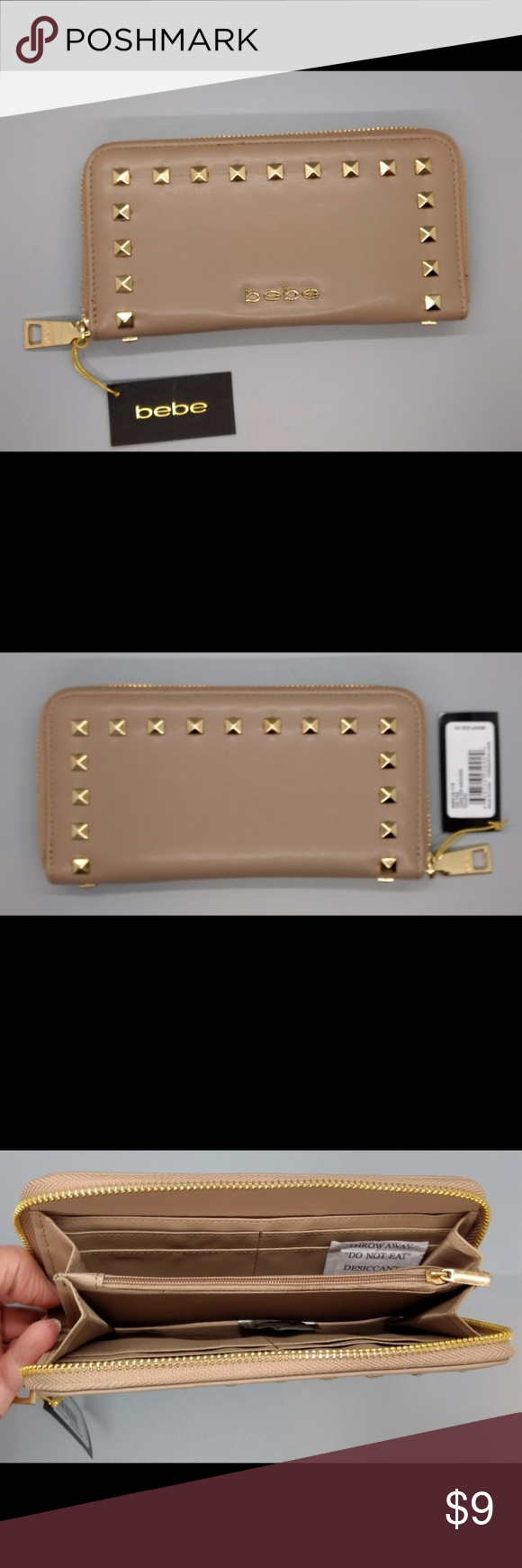 be500f074a Bebe Jane Zip Around Wallet in Taupe Bebe brand Jane zip around wallet. New  with