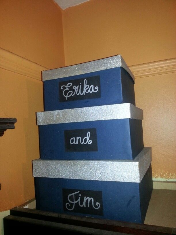 Card box (for gift table) We used 3 paper mache boxes from ...