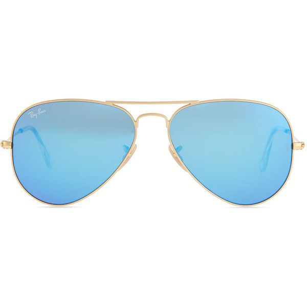 70990ad311 Eyewear · Ray-Ban Aviator Sunglasses with Flash Lenses ( 180) ❤ liked on Polyvore  featuring