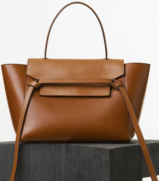 Celine Mini Belt Bag In Tan Natural Calfskin