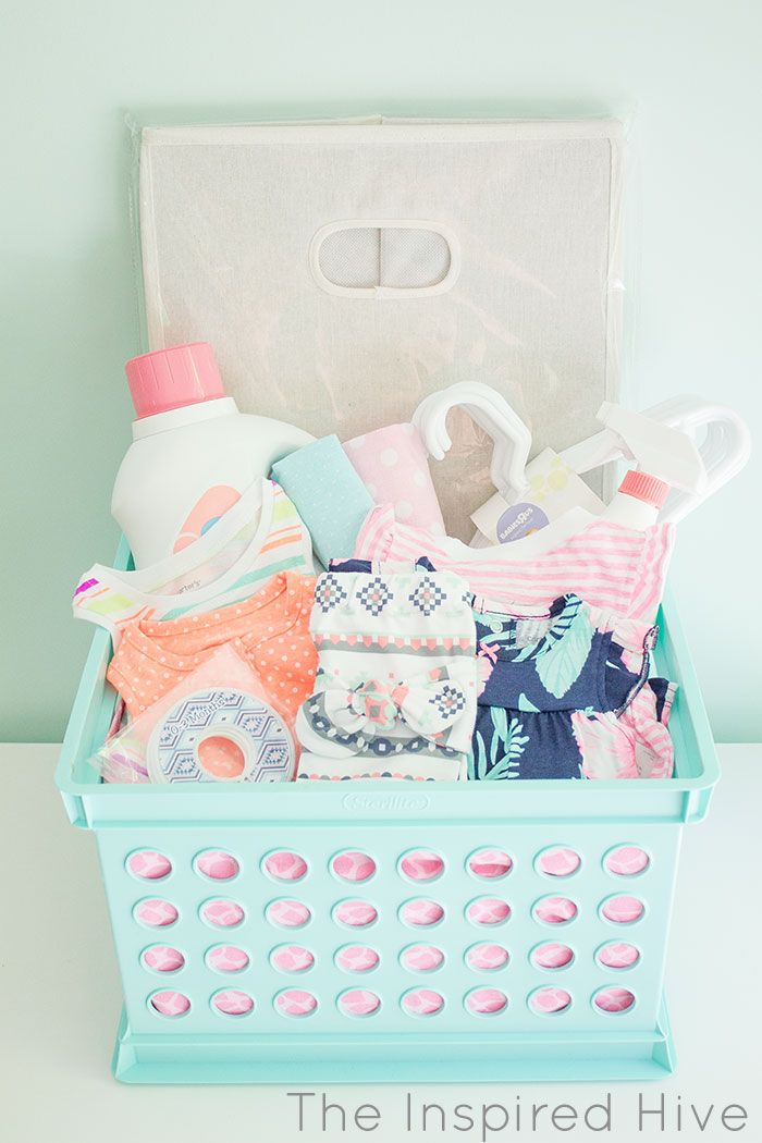 Laundry Basket Baby Shower Gift Baby Shower Baskets Easy Baby