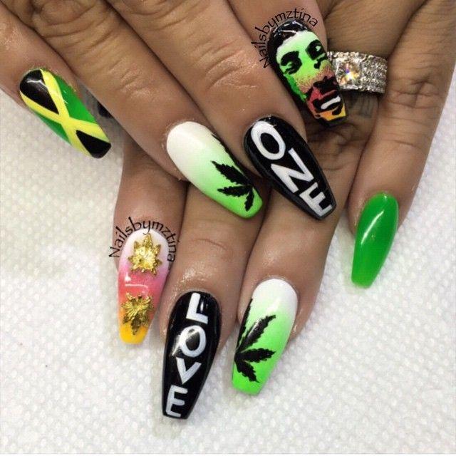Рисунки на ногтях марихуаны футболка с листами конопли