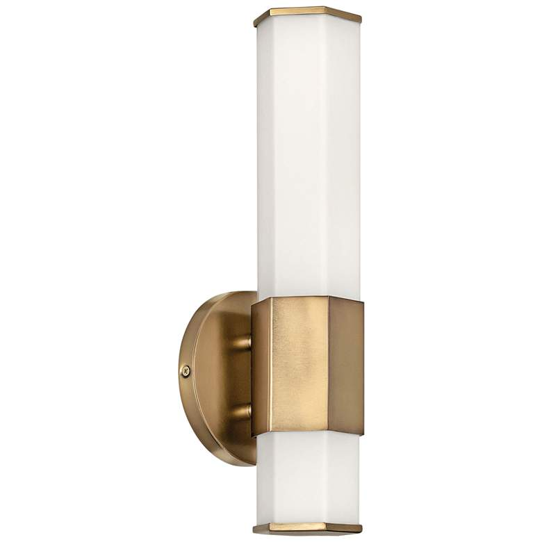 Hinkley Facet 14 High Heritage Brass Led Wall Sconce 71a11 Lamps Plus In 2020 Led Wall Sconce Sconces Wall Sconces