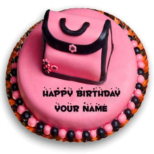 Cute And Sweet Birthday Cake With Your Name Write Name On: Happy Birthday Cake For Cute Girl With Your Custom Name