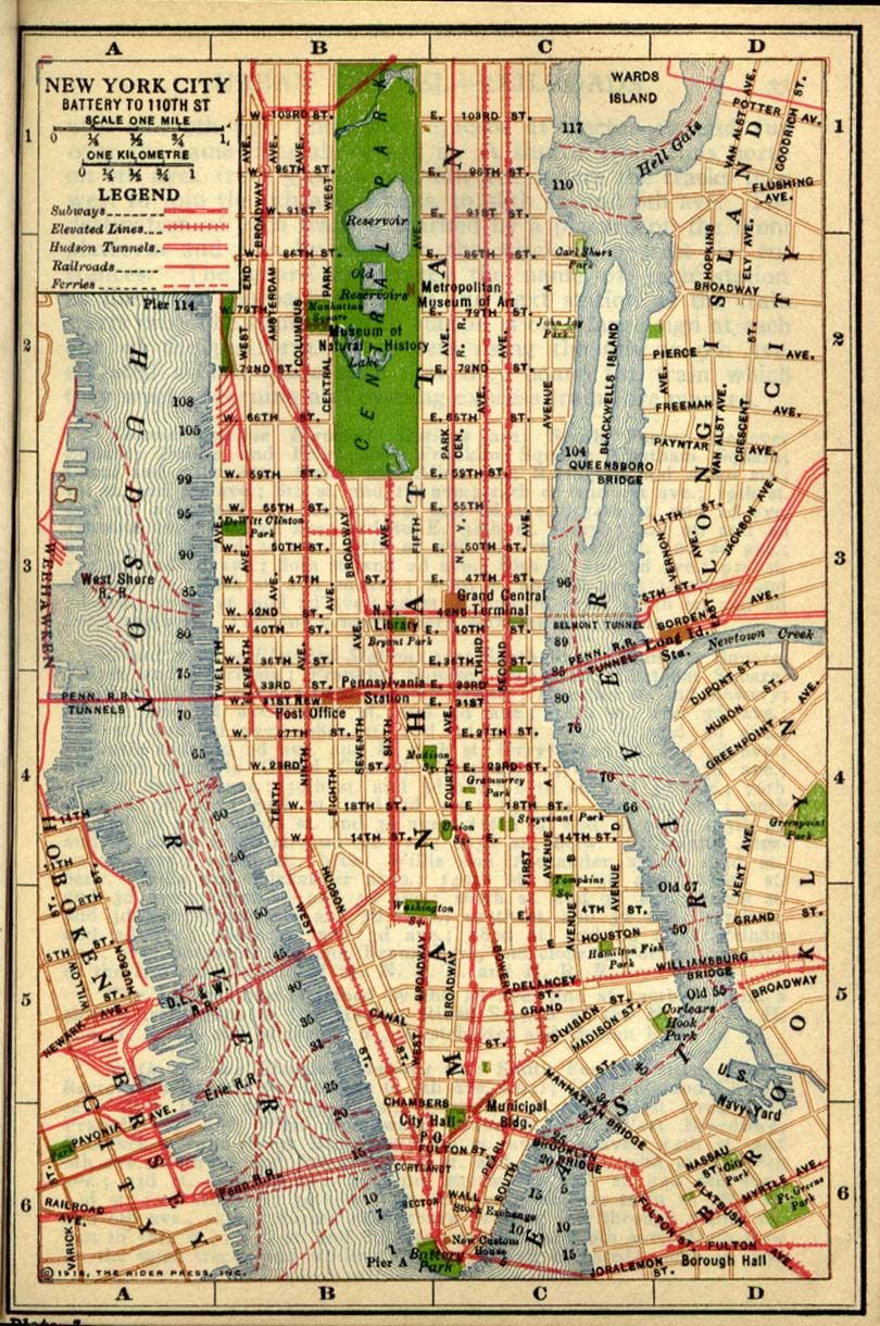 Old Map Of New York.I Love Old Maps Of New York Weird Blackwells Island Is Now Called