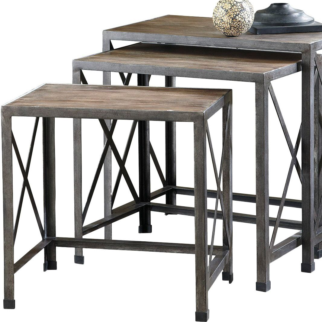 August Grove Doreen Piece Nesting Tables Design Ideas - 3 piece nesting coffee table