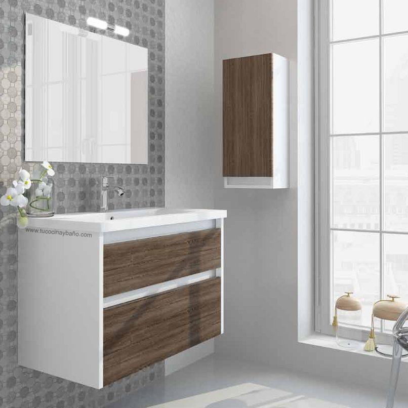 Mueble ba o blanco madera tu cocina y ba o muebles for Mueble bano rustico blanco