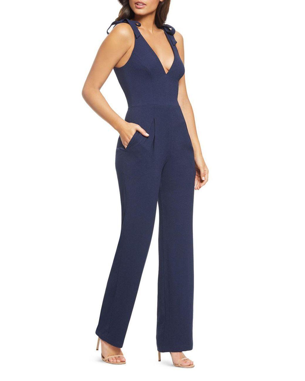 06868e34 Women's Blue Maira Tie-detail Jumpsuit in 2019 | Wardrobe | Dress ...