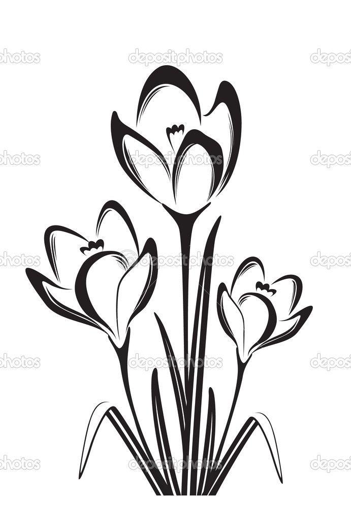 flower black and white drawing - Pesquisa Google   Artesanato ...