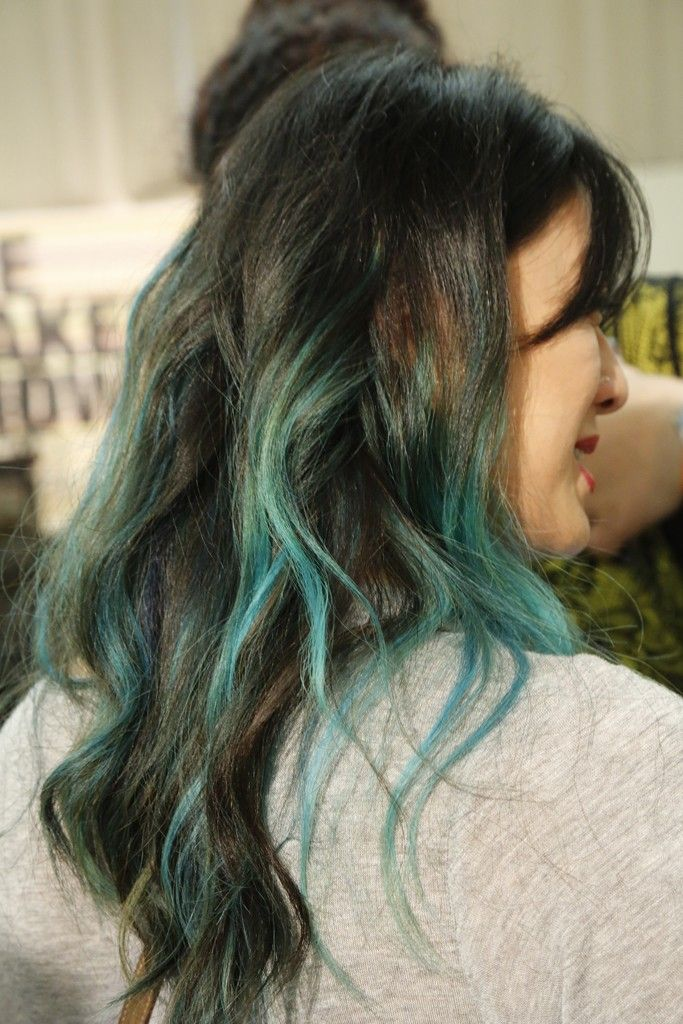 Ombré Locks: Ombré adorned the hair with colors ranging from purple to neon green. [Photo by Kyle Ericksen]
