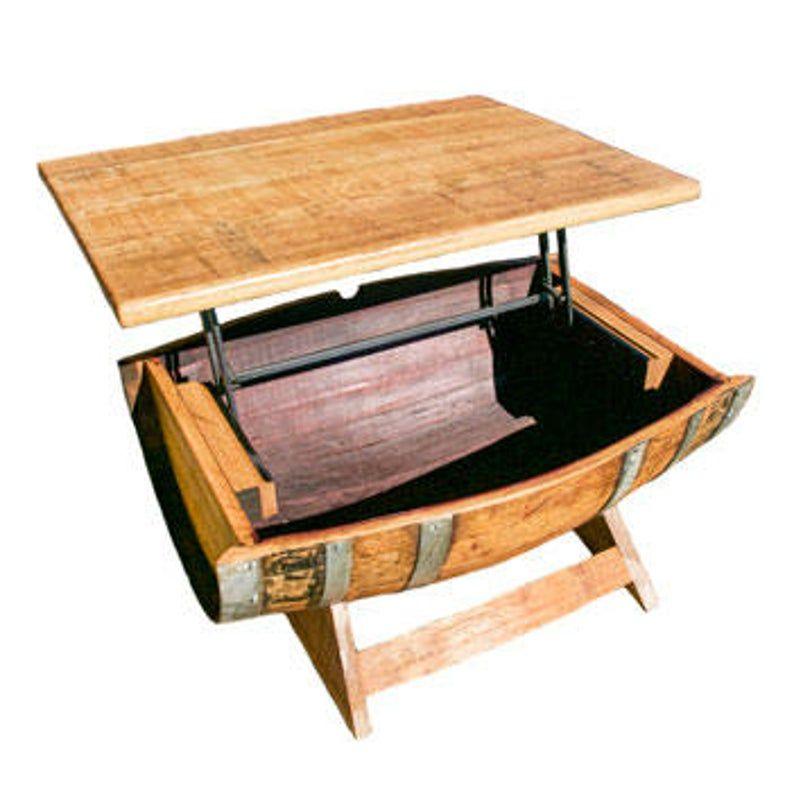 Wine Barrel Coffee Table/ coffee table/Home decor/ Indoor furniture/ outdoor furniture/ desk ...