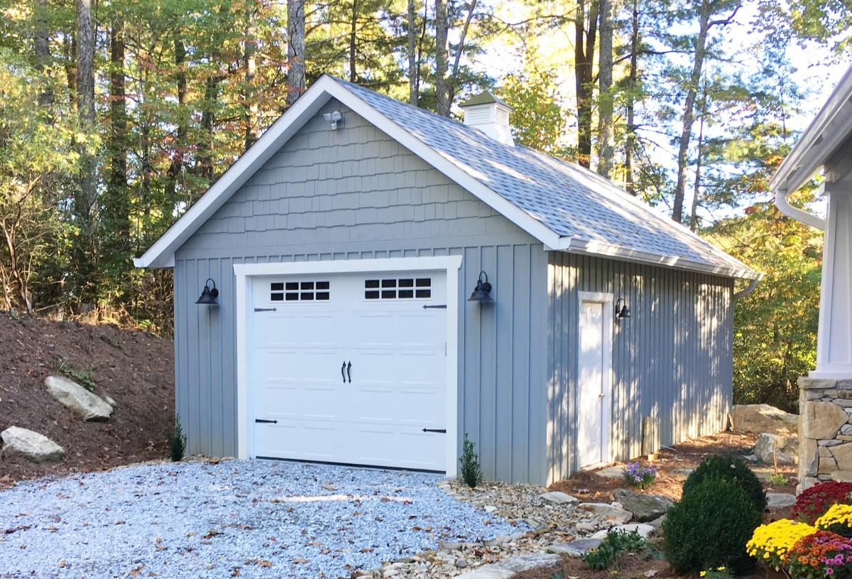 How Large Is A One Car Garage Car Garage Prefab Garages Prefab