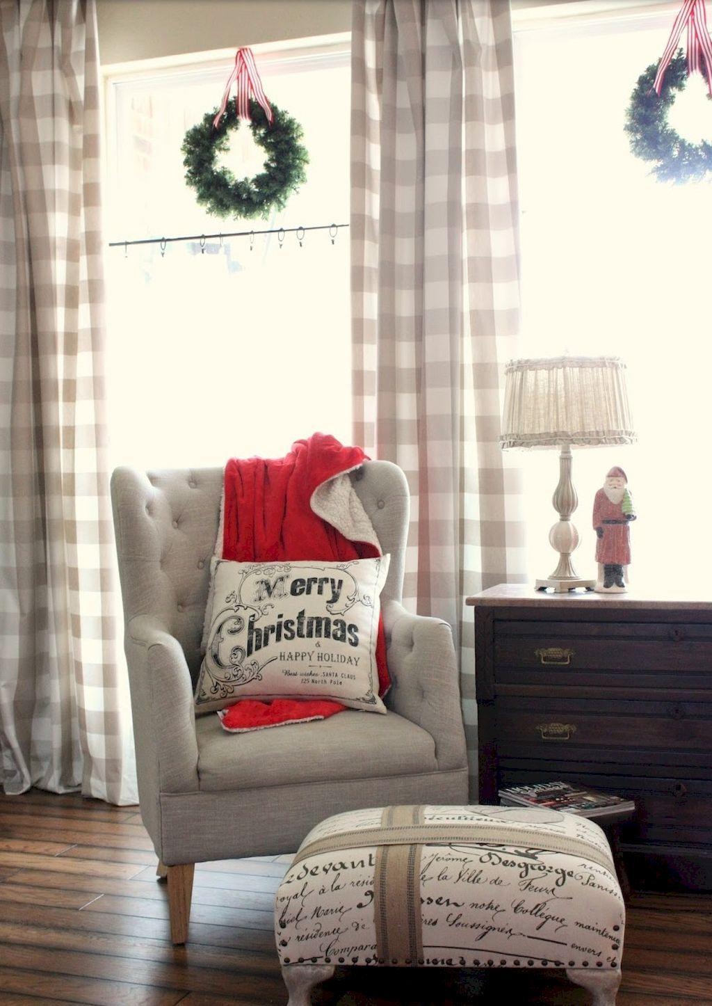 75 comfy rustic farmhouse christmas living room decor ideas living rh pinterest com