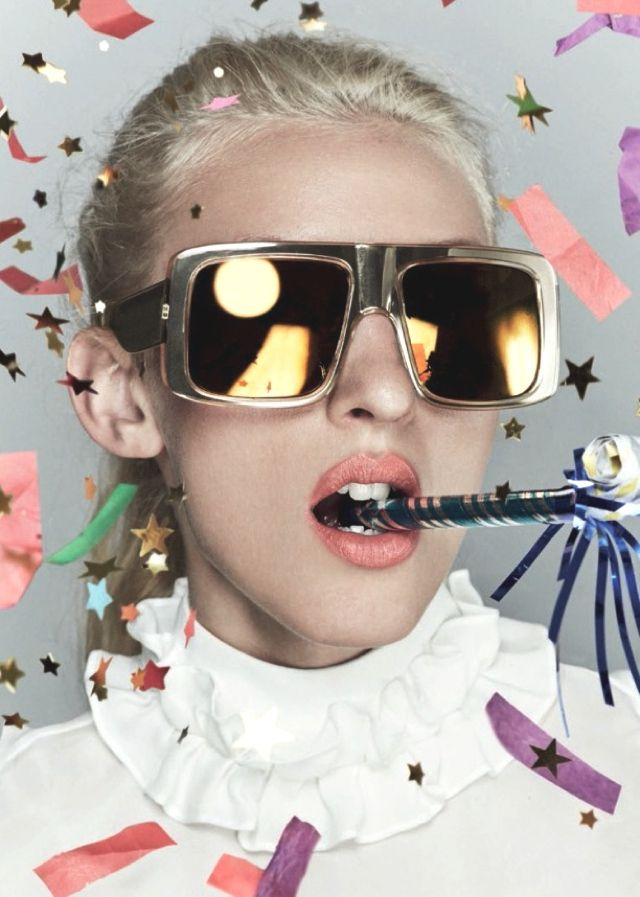 Celebration with Karen Walker Gold Sunglasses ,   Karen Walker gold sunglasses are for the celebration of her company's 10-year anniversary. Her amazing collection includes one style from each yea... ,  #AdvertisingCampaign #extravagantsunglasses #Eyeglasses #Fashion #Fashion2015 #FashionPhotography #mirroredsunglasses #sunglasses