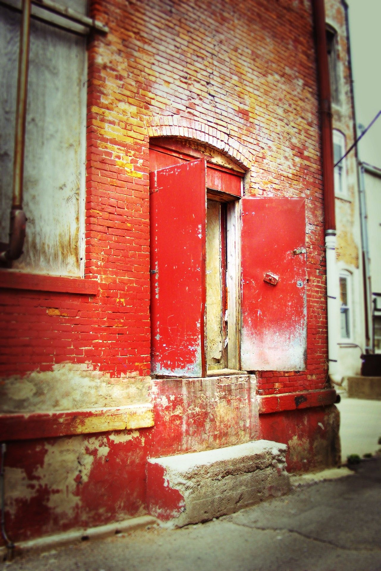 Back alley door limited edition photography altered x j m nall