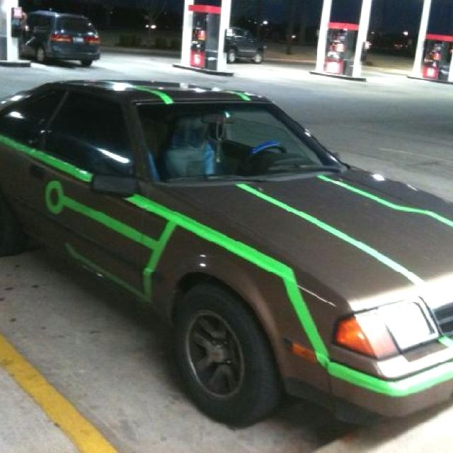 Duct Tape TRON Car