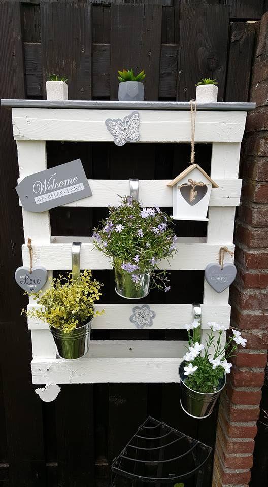 Aus Paletten Machen Sie Nicht Nur Möbel, Sie Können Auch Paletten ... Shabby Chic Im Garten Moebel Deko Ideen