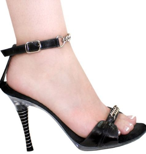 da0d807bcd5b1 Karos-Shoes-High-Heels-Black-Leather-Silver-Choose-Size-5-10-4-Stilettos-USA