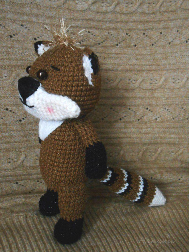 Free raccoon crochet pattern | Pinterest | Waschbär, Amigurumi und Frei