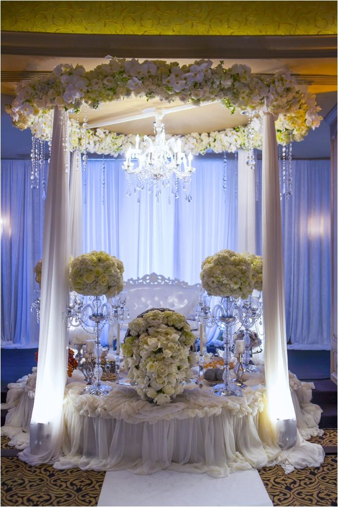 Ivory White And Yellow Persian Wedding Chuppah By Plants N Petals Photo John Ly Photography