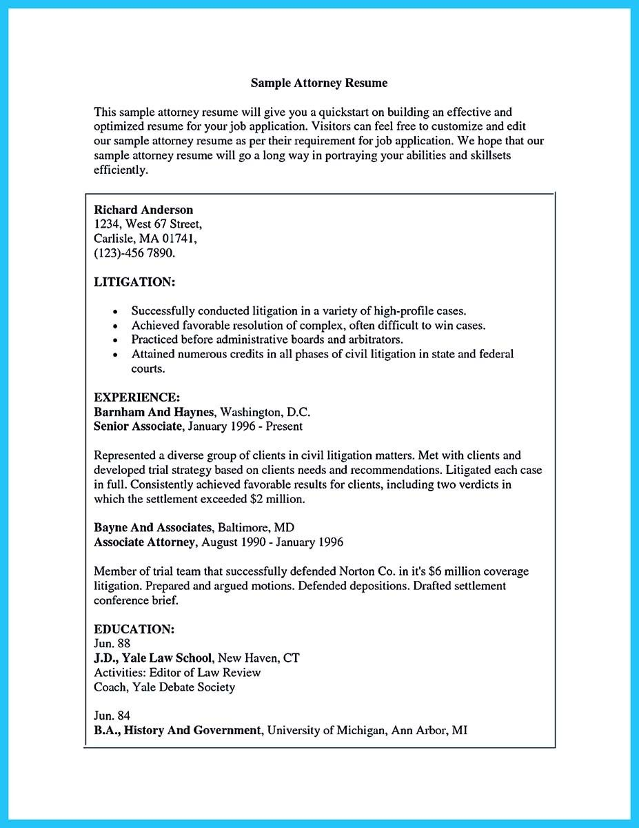 Nice Arranging A Great Attorney Resume Sample Check More At Http Snefci Org Arranging Great Attorney Resume Sample
