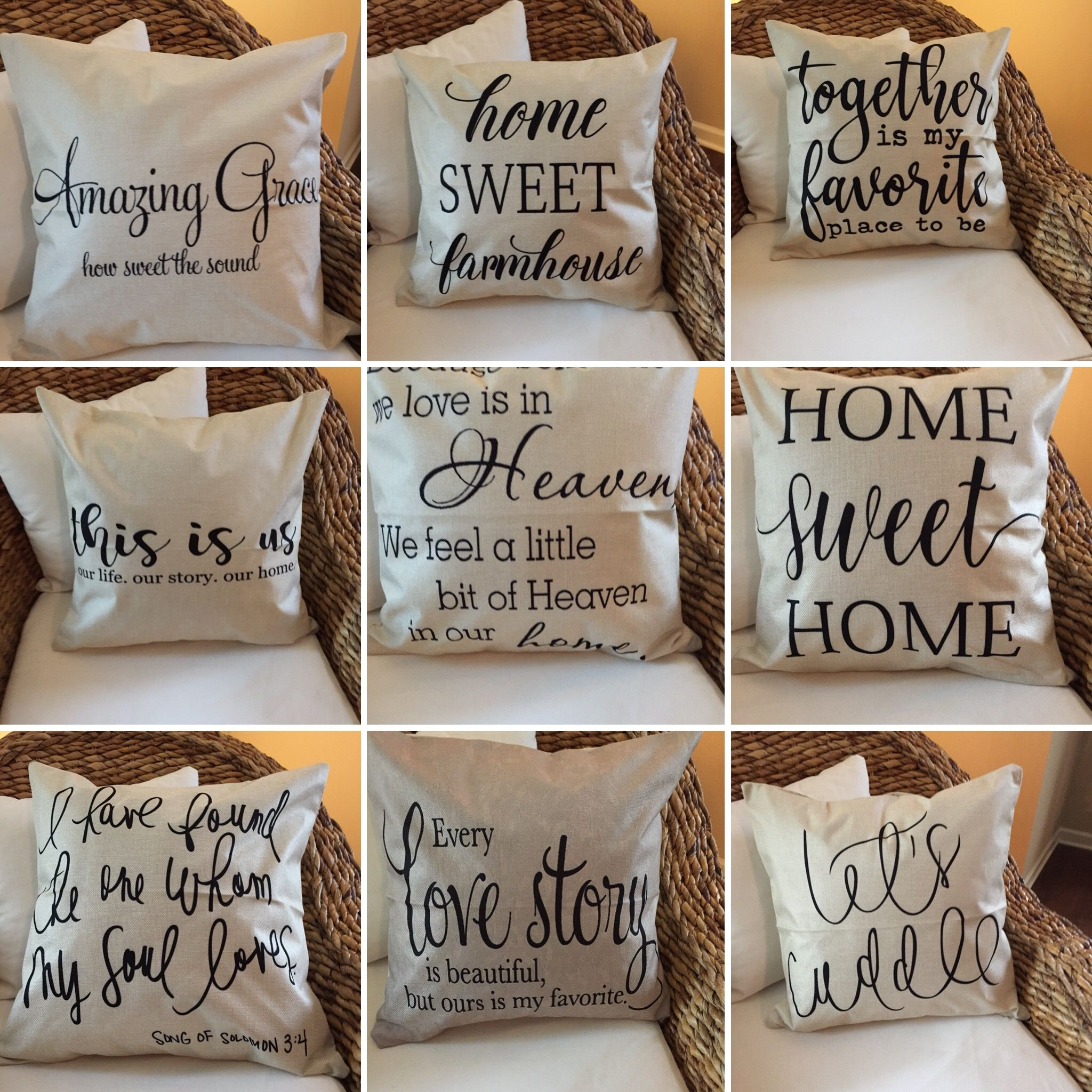 Farmhouse Pillow Covers Diy Pillow Covers Diy Pillows Farmhouse Pillows