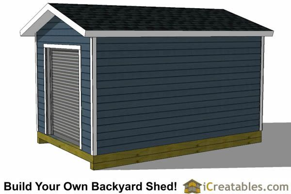 10x16 Shed Plans With Garage Door Right Side Shed House Plans Shed Design Shed Homes
