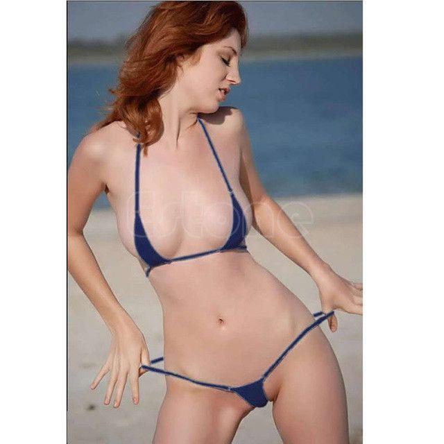 Sexy Women Micro Thong Underwear G String Bra Set Mini Bikini Swimwear Nightwear Hot
