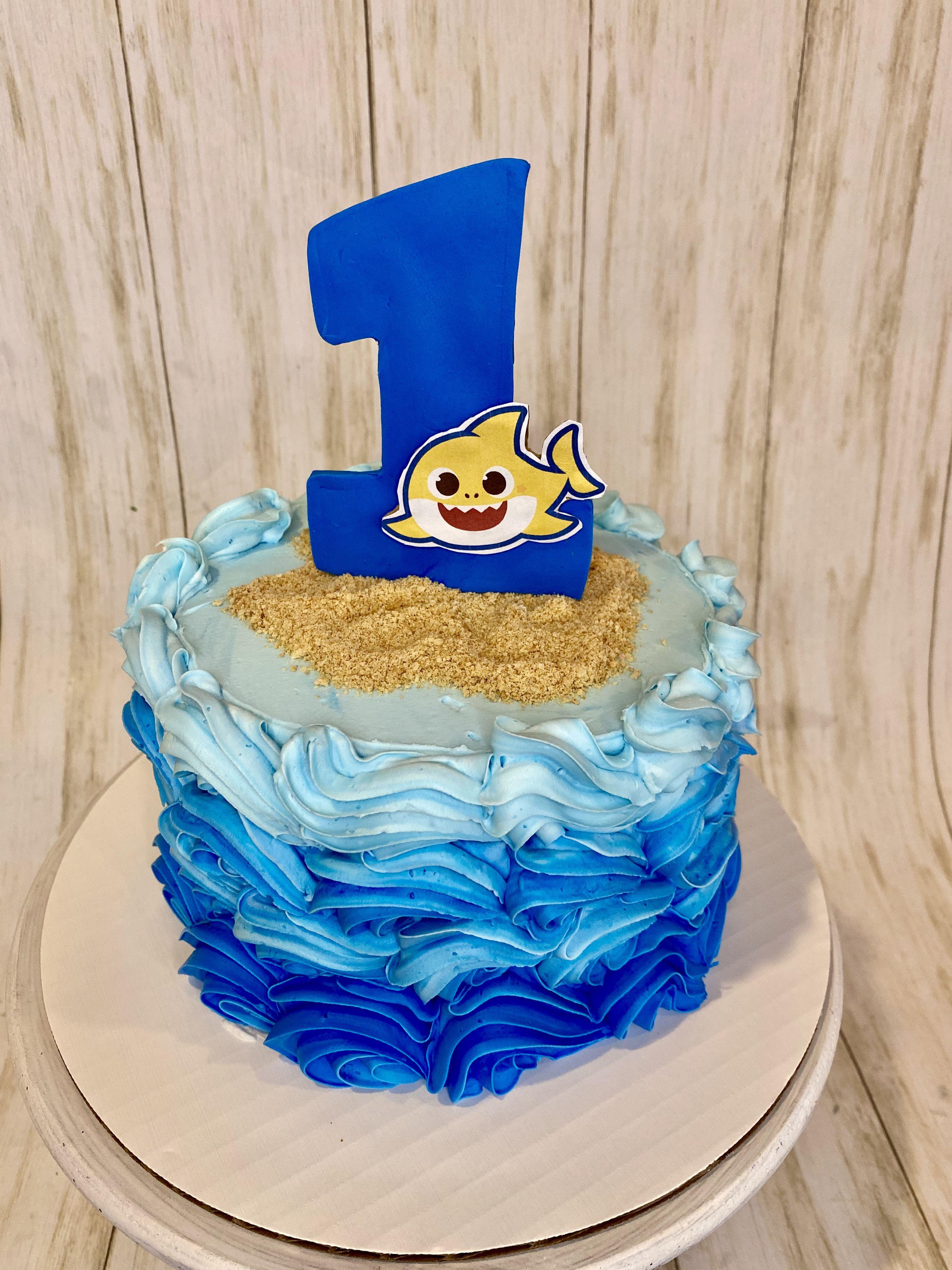 Baby shark smash cake in 2020 sweet dreams bakery cake