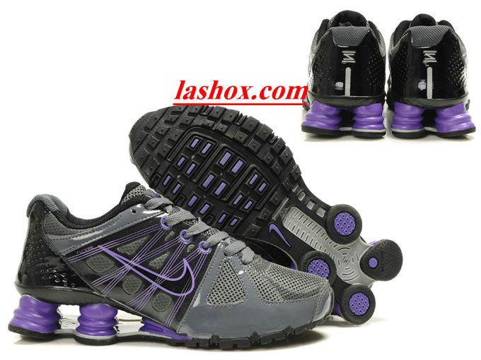 info for 5b02a 38d08 ... top quality chaussures nike shox agent femme gris anthracite pourpre  lashox 0bba2 95bcc