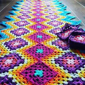 بطانيات الكروشية طريقة بطانية كروشية غرزة الزجزاج مفرش كروشية مربعات جراني Crochet Headband Crochet Blanket Crochet