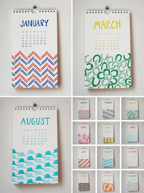 Event Calendar Design Ideas : Use patterns instead of icons on the calendar investigate