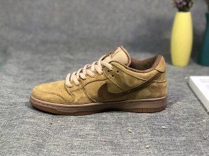 a7aeafe20d7f Mens Womens Nike Dunk SB Low Khaki Brown Skate Shoes