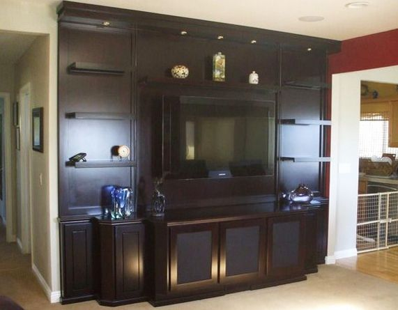 Built In Entertainment Centers And Custom Wall Units