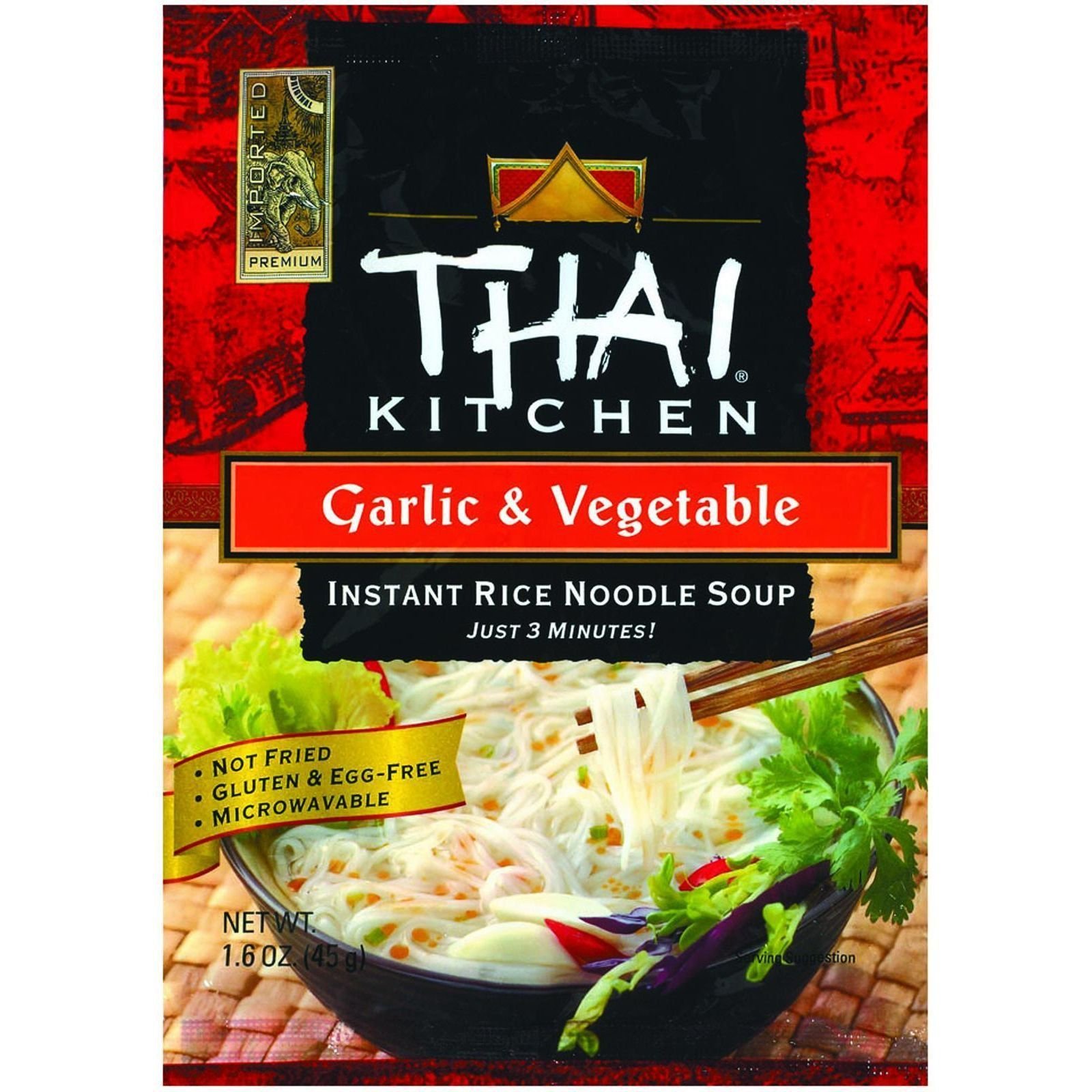 thai kitchen instant rice noodle soup garlic and ve able