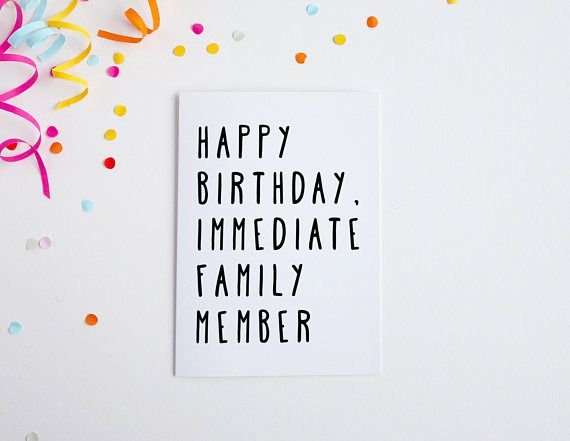 Funny birthday card birthday card for brother immediate family funny birthday card birthday card for brother immediate family member card for sister m4hsunfo