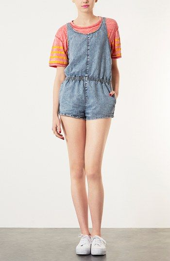 Topshop Moto 'Miami Acid' Romper available at #Nordstrom