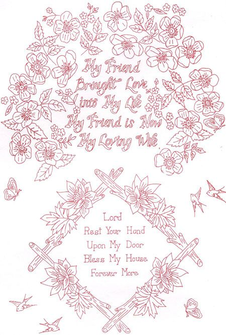 Embroidery Transfer Pattern Iron On For Hand Embroidery 845 Plus