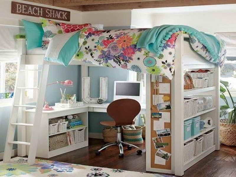 Image Of Funny Bunk Bed With Desk Underneath Fo Children
