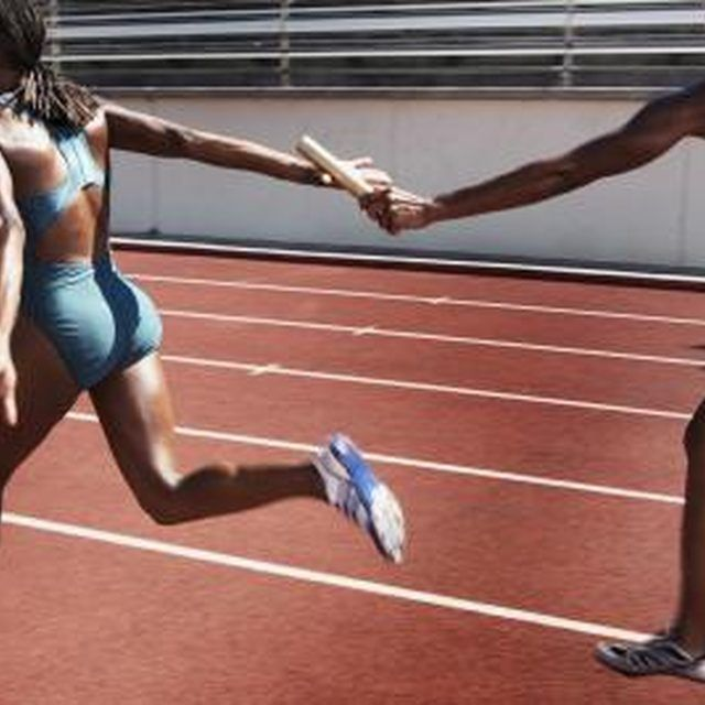 Runners can perfect their handoff skills with relay games