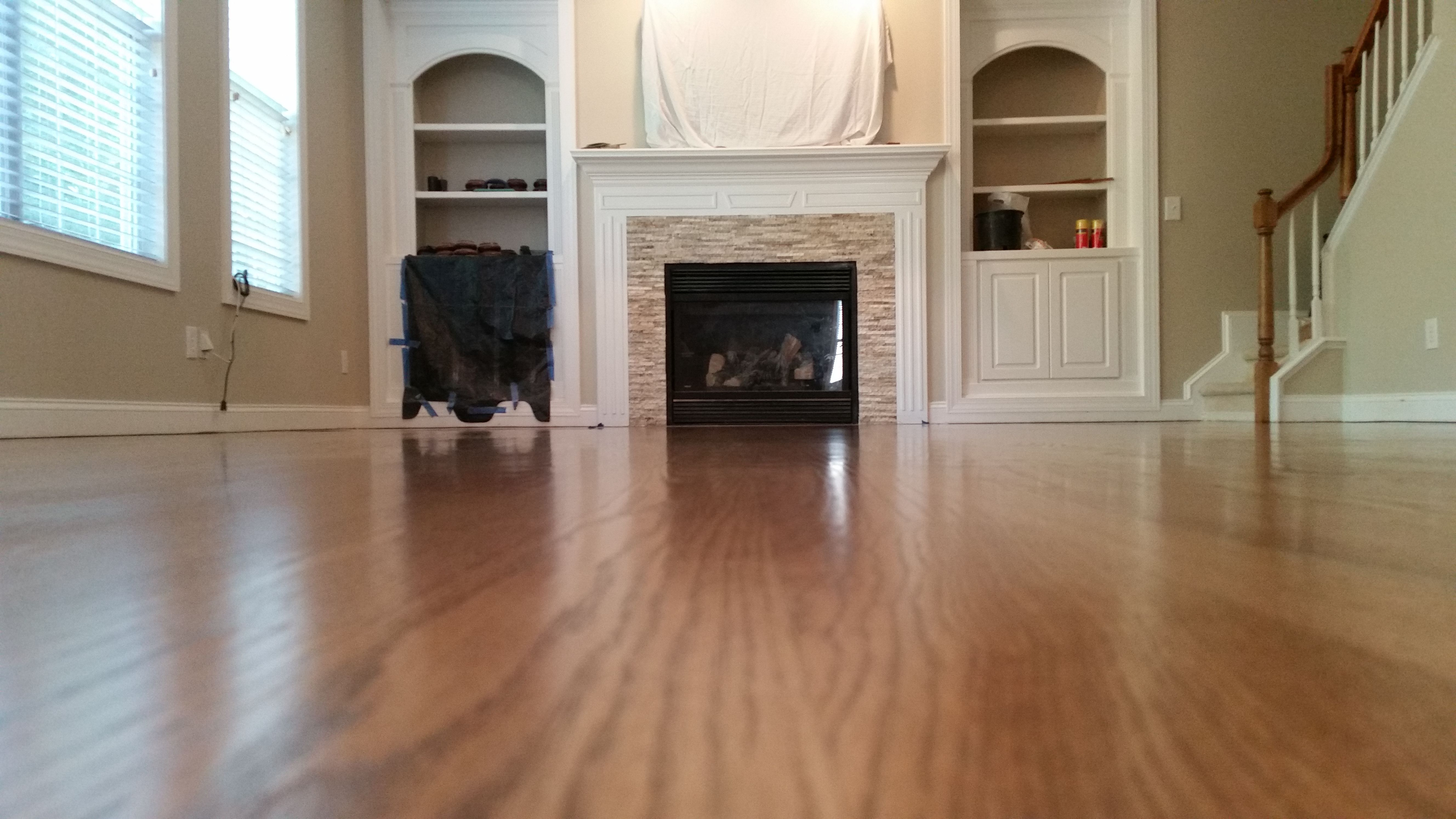 Flooring eclectic hardwood flooring boston by paris ceramics - Bona 50 Provincial And 50 Golden Oak Stain On Red Oak Hardwood Floors