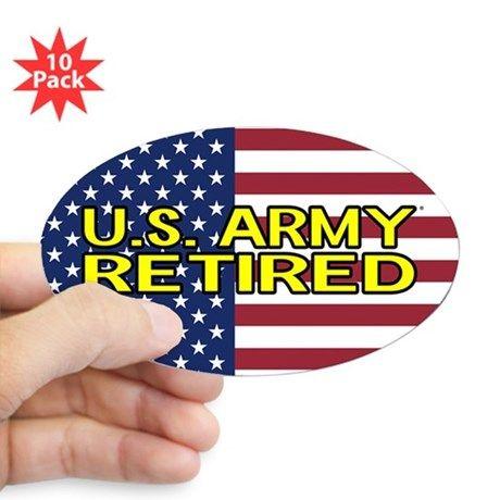 b44bc1f224a8 U.S. Army  Retired (American Flag) Decal on CafePress.com