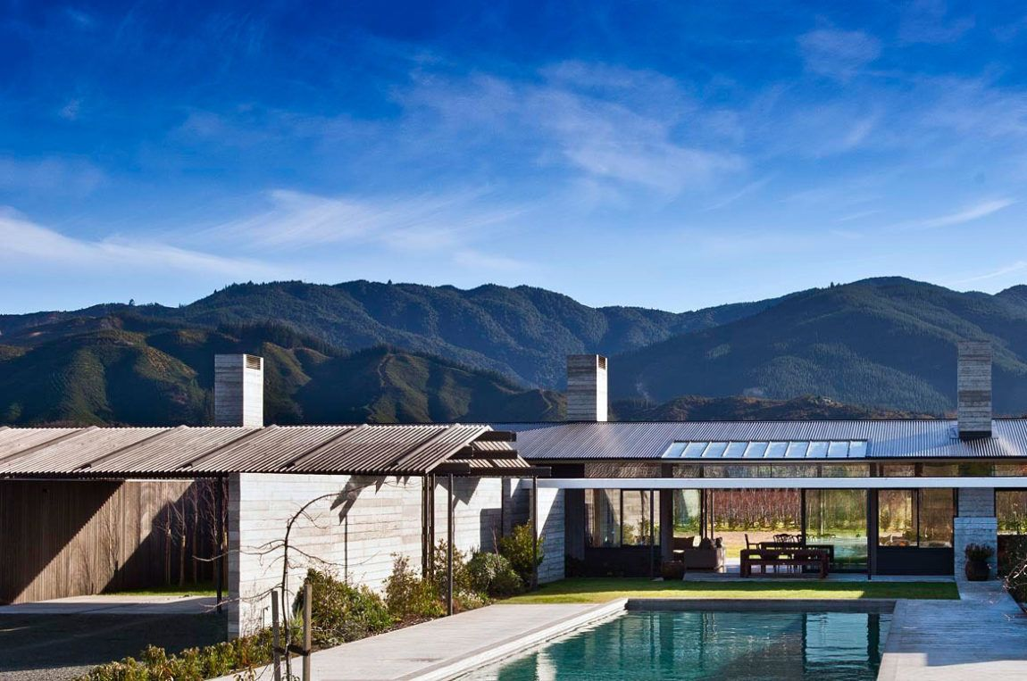 Wairau Valley House by Parsonson Architects New zealand