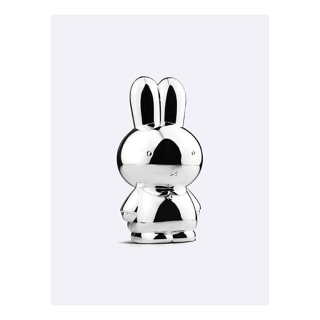 The Queen of Utrecht is back. I previously posted the awesome oversized Miffy lamp. This one's even better - silver-plated Miffy! A real collector's item that will have value way beyond childhood.