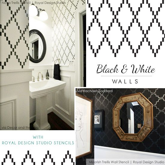 Black and white diy stencil projects throughout the home for a black and white diy stencil projects throughout the home for a high contrast classy and timeless look sciox Image collections